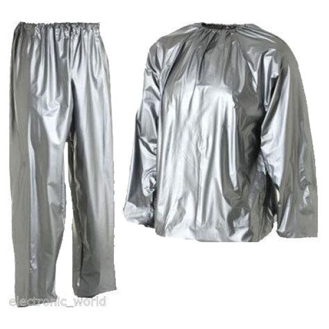Baju Sauna Suit sauna suit for weight loss slimming exercise sweat home ebay