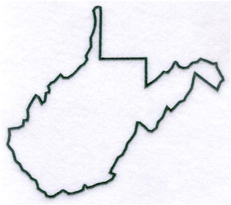 West Virginia State Outline Vector by Machine Embroidery Designs At Embroidery Library Embroidery Library