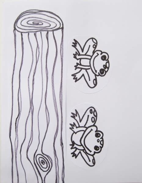 coloring page frog on a log five little speckled frogs coloring pages