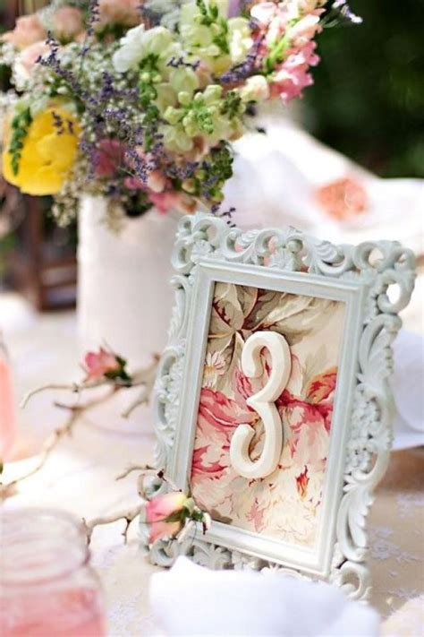 Table Numbers For Weddings by Wedding Wednesday Vintage Table Number Diy
