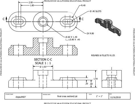 cross section drawing cross section drawings