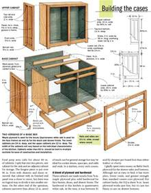 kitchen cabinets plans woodarchivist