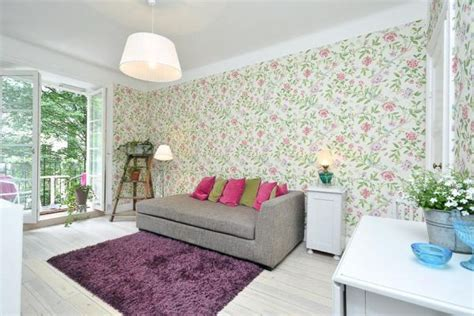 apartment wallpaper charming 37 square meter flat with floral wallpaper