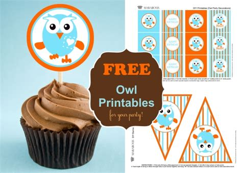 printable owl party decorations party fun for little ones giggle hoot inspired party