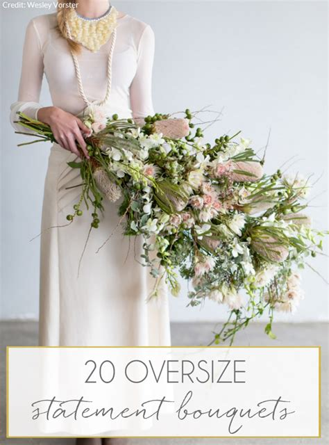 Big Wedding Bouquets by 20 Oversize Statement Wedding Bouquets Southbound