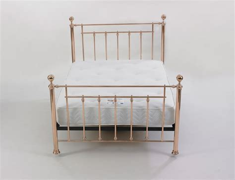 Limelight Libra 4ft6 Double Rose Gold Metal Bed Frame By Gold Metal Bed Frame