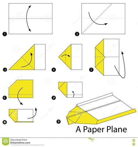 How To Make Toys With Paper Step By Step - origami plane comot