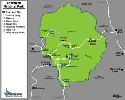 map usa yosemite yosemite national park wikitravel