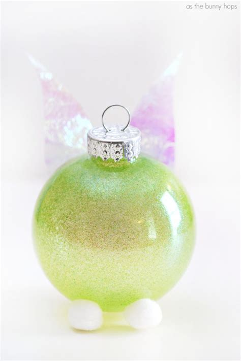 tinker bell inspired christmas ornament as the bunny hops 174