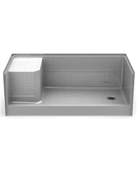30 X 60 Shower Base With Seat by Pss6030 One 60 X 30 Curbed Shower Pan 5