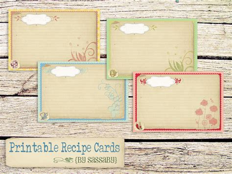 recipe card decoration template search results for code blank printable