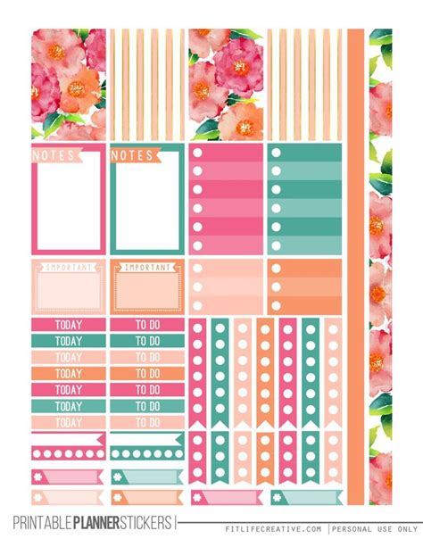 free printable daily planner stickers 25 best ideas about planner stickers on pinterest free