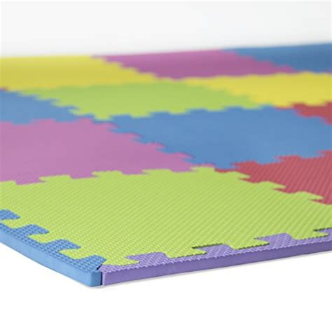 Foam Connecting Mats by Foam Play Mats 16 Tiles Borders Puzzle Playmat