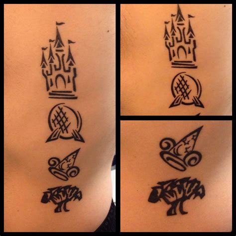 hollywood tattoo walt disney world park logos magic kingdom epcot