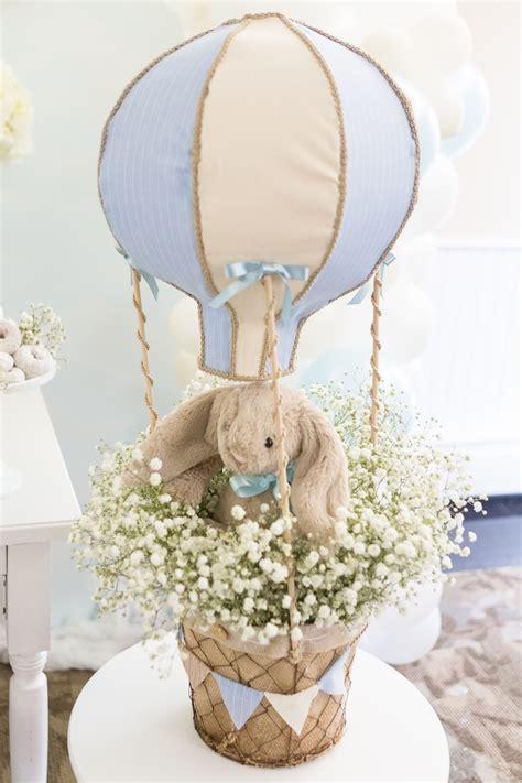 Kara S Party Ideas Bunny Hot Air Balloon Birthday Party Air Balloon Bathroom Decor