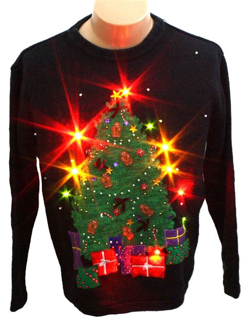 light up ugly christmas sweater bobbie brooks unisex