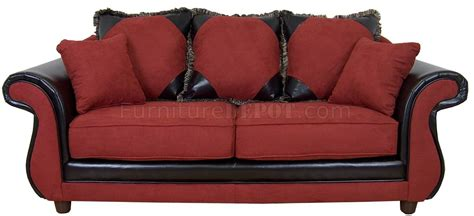 Burgundy Sofa Set by Burgundy Fabric Modern Sofa Loveseat Set W Options