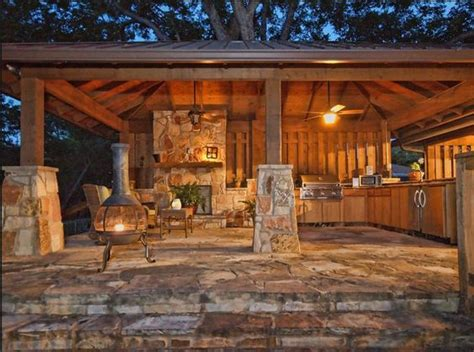 Hip Roof Pavilion Hip Roof Pavilion With Outdoor Kitchen Backyard