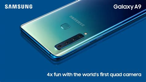 Samsung A9 Samsung Galaxy A9 2018 Unveiled With A Total Of Five Cameras Coming To India Next Month
