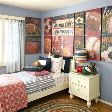 Vintage Sports Bedroom Decor by Some Wonderful Ideas For Boys Bedroom Decor Home Design
