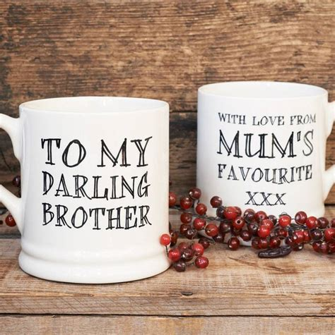 darling brother or darling sister mug by sweet william