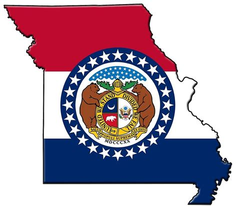 Us State Flag Outlines by Quot Missouri State Flag Outline Quot By Davedinho Redbubble