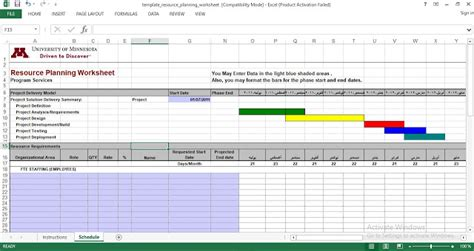 resource planning template  excel engineering management