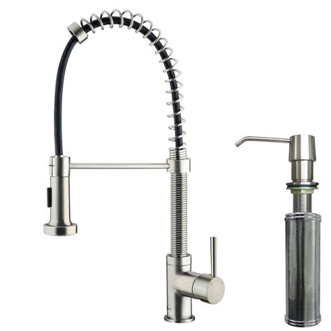 spiral kitchen faucet vigo single handle pull out sprayer kitchen faucet with