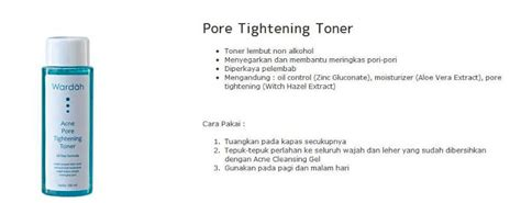 Acne Tightening Toner Wardah wardah halal cosmetics