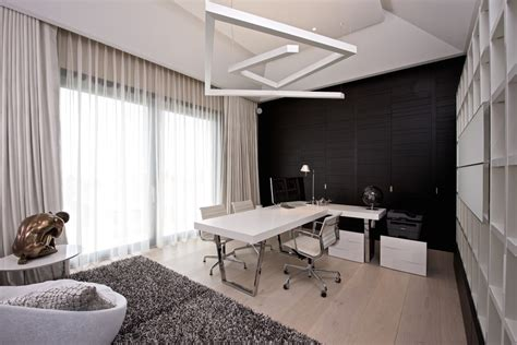 21 black and white home office designs decorating ideas