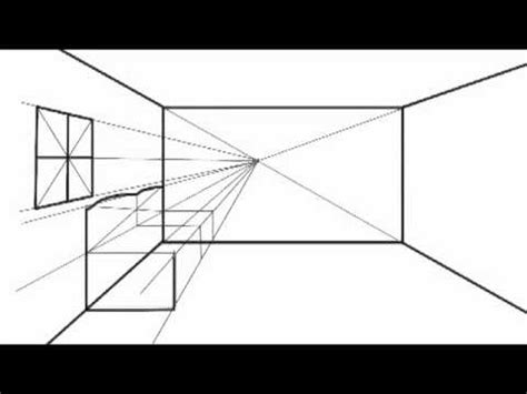 how to draw furniture sofa easy perspective drawing 23 youtube how to draw in one point perspective option2 youtube