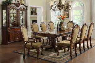 Solid Wood Formal Dining Room Sets Fa3005t Ashlyn Cherry Solid Wood 9 Formal Dining Set Inland Empire Furniture