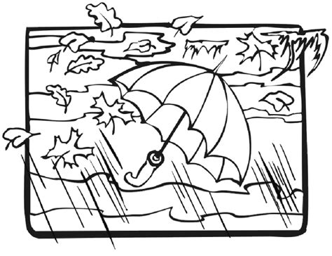 windy weather colouring page
