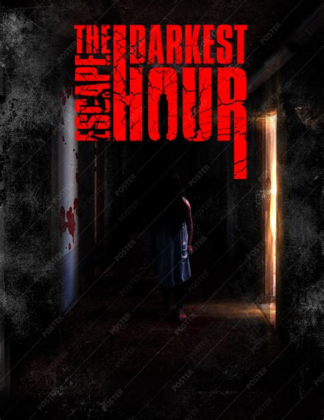 darkest hour haunted house horror haunted house poster quot the darkest hour quot print