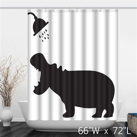funny shower curtain funny hippo take shower bathroom shower curtain custom