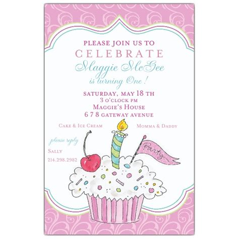 cupcake invitations template birthday cupcake invitations paperstyle