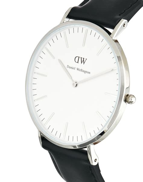daniel wellington men watch 40mm classic sheffield daniel wellington sheffield 40mm leather strap watch in