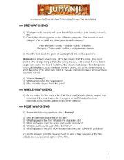 jumanji movie riddles english teaching worksheets jumanji