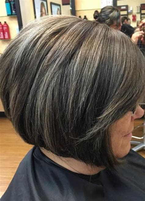 images of highlights on short gray hair 60 gorgeous hairstyles for gray hair