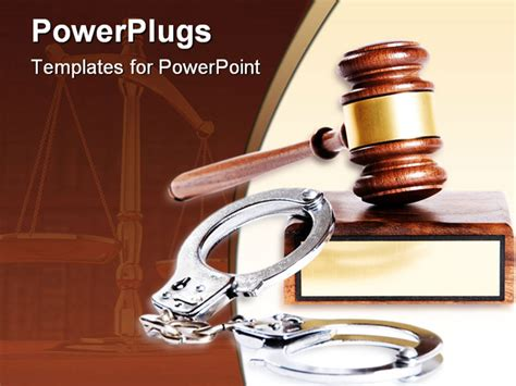powerpoint templates free justice wooden justice gavel and block with brass powerpoint