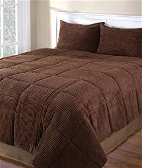 chocolate brown comforter set com chocolate brown corduroy full queen 3 piece