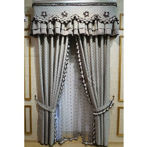 elegant curtains and drapes hot sale gray floral suede jacquard elegant curtains
