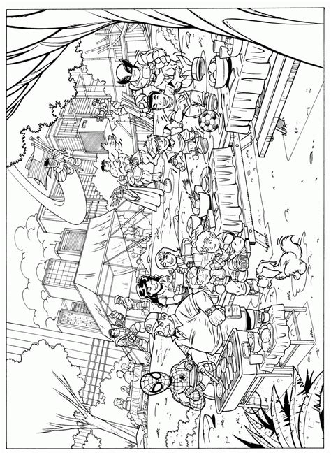 Superhero Squad Coloring Pages Superhero Coloring Pages Squad Coloring Page