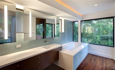 inset bathroom mirror how to a modern bathroom mirror with lights
