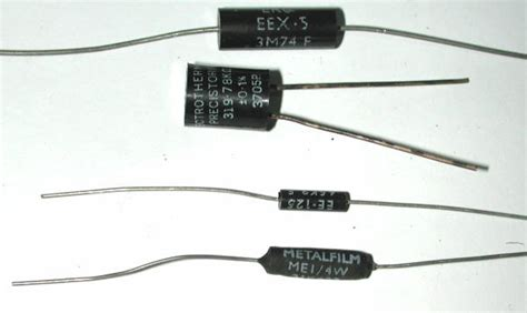 precision resistors values resistive