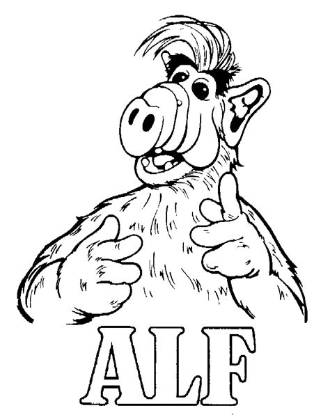 Coloring Page Alf Coloring Pages 10 Tv Show Coloring Pages