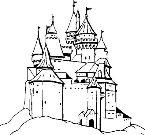 medieval castle coloring page free coloring pages of medieval castle