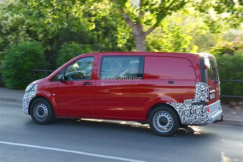 working at mercedes mercedes spied testing new vito the 2015 v class working