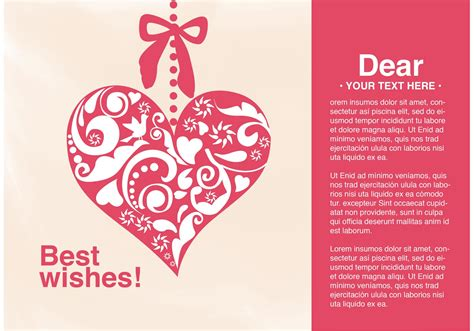 vector card  wishes heart   vector art stock graphics images