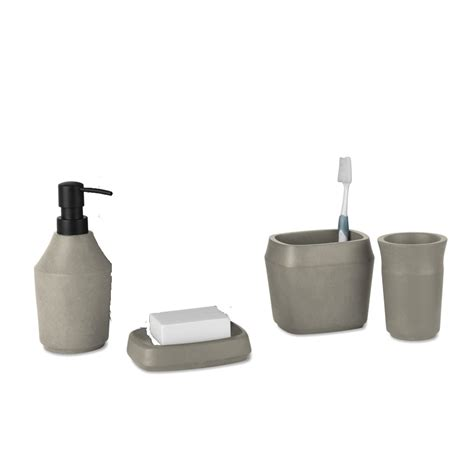 umbra bathroom accessories umbra roca bathroom collection concrete black by design